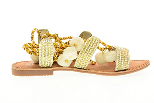 GIOSEPPO chaussures pour femmes sandales plates 40501-24 Quetzali couleur blanche