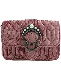 Zibuyu Women Pleuche Handbag Winter Clutch Crossbody Shoulder Bag Mini Purse(Pink)