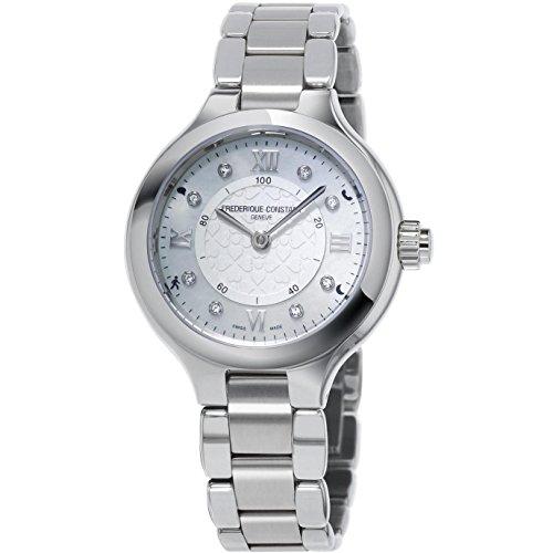 Frederique Constant Women's Smartwatch 33mm Steel Bracelet & Case Quartz Analog Watch FC-281WHD3ER6B