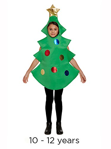 Kind Weihnachtsbaum Kostüm Alter 10 bis 11 (Weihnachtsbaum Kostüm Kind)