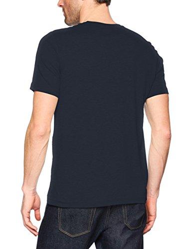 Mustang Herren T-Shirt Logo Tee Blau (Blue Night 4085)
