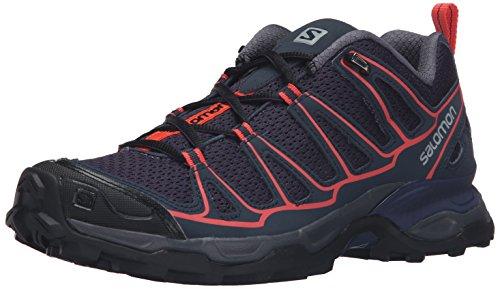 Salomon L39184300, Zapatillas de Senderismo para Mujer, Gris (Nightshade Grey / Deep Blue / Coral Pun), 42 EU