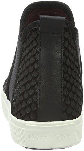 Marc O'Polo Damen 60713583502200 Sneaker High-Top Schwarz (black 990)