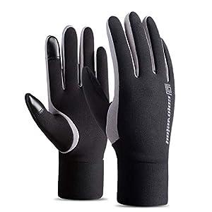 Jiobapiongxin Winter-warme Fleece-gefütterte Thermo-Handschuhe für Das Skifahren