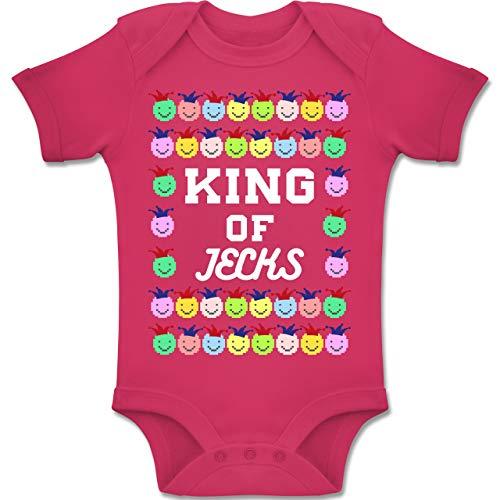 g Baby - King of Jecks - 1-3 Monate - Fuchsia - BZ10 - Baby Body Kurzarm Jungen Mädchen ()