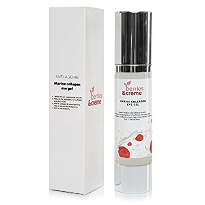 Berries and Creme Marine Collagen eye gel - THE ANTI AGEING MIRACLE EYELIFT for reduction of dark circles and wrinkles 50ml by Berries Creme