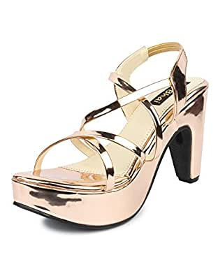 Do Bhai Women's Copper Fashion Sandal 36
