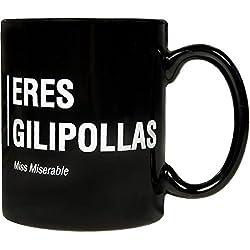 Miss Miserable - Taza mug existencialista: ''eres gilipollas''