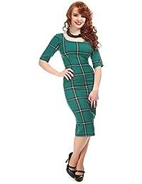 ce0cf5620f0 Collectif Vintage Women s Amber Evergreen Print Pencil Dress
