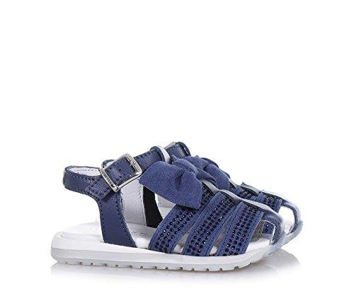 TWIN-SET – Blauer Schuh aus Wildleder und Leder, phantasievoll und modisch, mit Schnallenverschluss, auf der Vorderseite, Mädchen - 3
