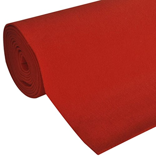 Teppich Läufer Eventteppich rot Extra Schwer 400g/m² 1x10m ()