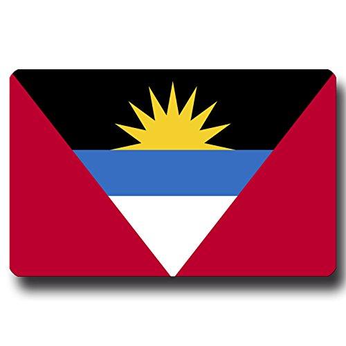 Kühlschrankmagnet Flagge Antigua & Barbuda - 85x55 mm - Metall Magnet mit Motiv Länderflagge