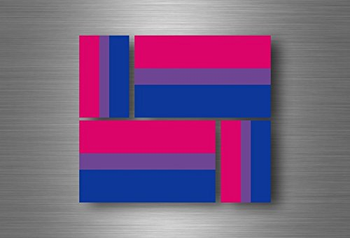 Akacha 4x aufkleber sticker fahne flagge flaggen vinyl rainbow bisexuellen bisexualität