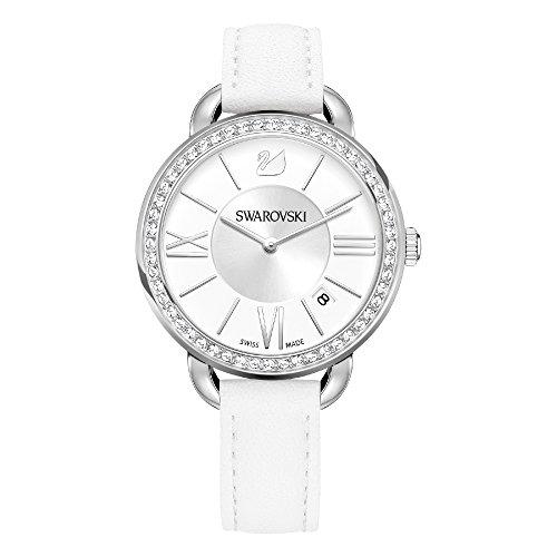 Swarovski orologio aila day da donna con cinturino in pelle bianca – 5095938