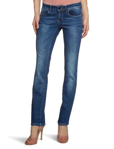 ONLY Damen Jeans Straight Low Auto Rim2979 Noos, Blau (Denim) W33/L32