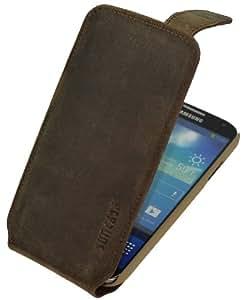 Suncase Premium Flipstyle Ledertasche für das Samsung Galaxy S4 i9505 antik-braun