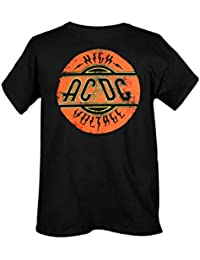 Hot Topic - Camiseta - Hombre - Hot Topic Ac/Dc Original High Voltage Logo (Camiseta)
