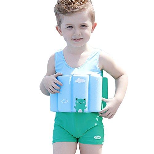 Yujeet Baby Auftrieb Elastizität Bademode Niedlich Umweltschutz Einteiliger Badeanzug Grün 140