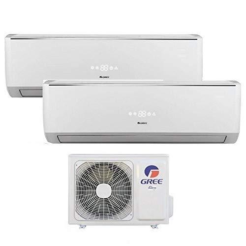 Climatizzatore inverter dual split LOMO Wi-Fi 7000 + 12000 Btu (U.E.14) GREE R32 classe A++/A+