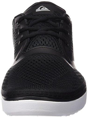 Quiksilver Herren Ag47 Amphibian Shoes, Scarpe da Ginnastica Basse Uomo Nero (Black/Black/White XKKW)