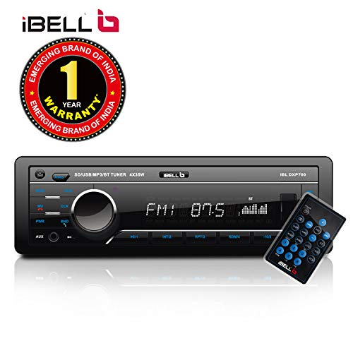 iBELL 140W Car Stereo Media MP3 Music System, Bluetooth One Touch to Receive Call with FM/AUX/USB/MMC