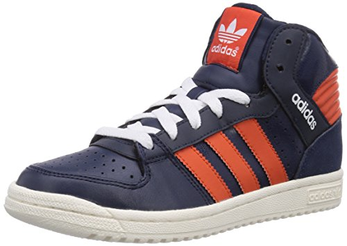adidas Pro Play 2 Unisex-Erwachsene Hohe Sneakers Blau (Collegiate Navy/Collegiate Orange/Ftwr White)