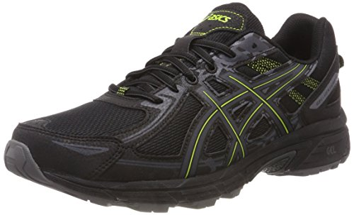 Asics Gel-Venture 6, Zapatillas de Entrenamiento para Hombre, Negro (Black/Neon Lime 001), 43.5 EU