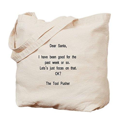 CafePress-DEAR SANTA-Werkzeug Nagelhautschieber-Leinwand Natur Tasche, Reinigungstuch Einkaufstasche, canvas, khaki, S