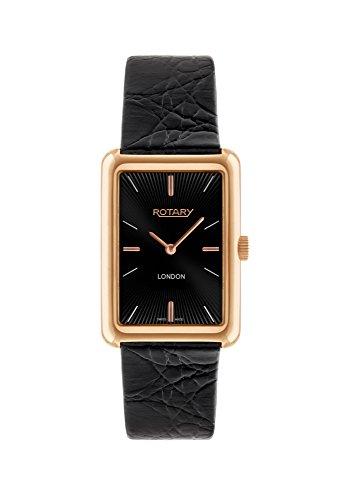 Rotary GS90993/04 - Reloj de pulsera hombre, piel, color negro
