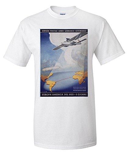 deutsche-lufthansa-servizio-postale-aereo-vintage-poster-artist-axster-heiestafs-premium-t-shirt