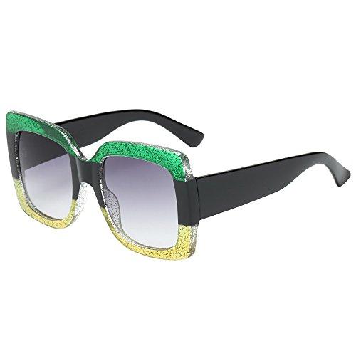 Auifor ✿NEUE übergroße quadratische Luxus-Sonnenbrille-Verlaufsglas-Weinlese-Frauen-Mode
