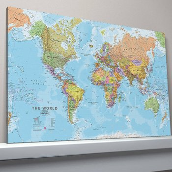 Second hand world map canvas in ireland 70 used world map canvas canvas world map large canvas publicscrutiny Images