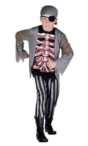 Costume zombie pirate brad bones (10-12 anni)