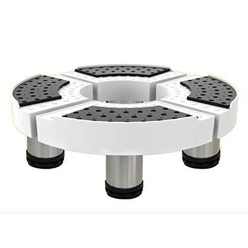 GAIXIA Round Gerätefuß Teleskopische Einstellung Waschmaschine Basishalterung, Handhabung Kleiner Anhänger Halterung Gerätebasis (größe : 18 cm) -