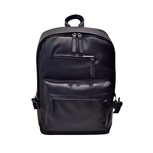 YWLINK Retro Herren Damen Daypacks Lederrucksack Laptop Tasche Schulrucksack Unisex Reiseschule Rucksack Tasche Henkeltaschen (Schwarz,30cm(L)*45cm(H)*15cm(W))