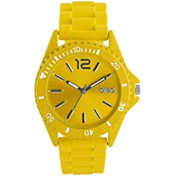 Breo Arica Unisex Sporty Watch with Yellow Strap and Yellow Dial