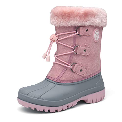 Girls Snow Boots Kids Winter Boots Boys Walking Boots Fur Lined Ankle Boots Hiking Shoes Rain Boots Wellington Boots Outdoor Size
