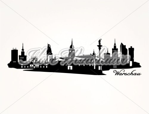 I-love-Wandtattoo 10304 Adesivo da parete Skyline parete Varsavia (1) per Apple I phone 5 °C, White, 200 x 55 cm Mint
