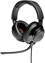 JBL Quantum 200 Wired Over-Ear Gaming Headset with Flip-up Mic & Discord Certified (Bl