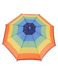 Dilwe Sombrero de Paraguas Plegable para Camping Pesca Golf 3 Colores(3)