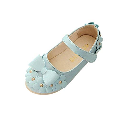 Ouneed® EU 21-30 Fille Cuir Mary Jane Chaussures Ete Bleu d'azur