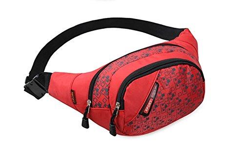 Slim Wasser Widerstand Sportliche Travel Taille Tasche rot - rot