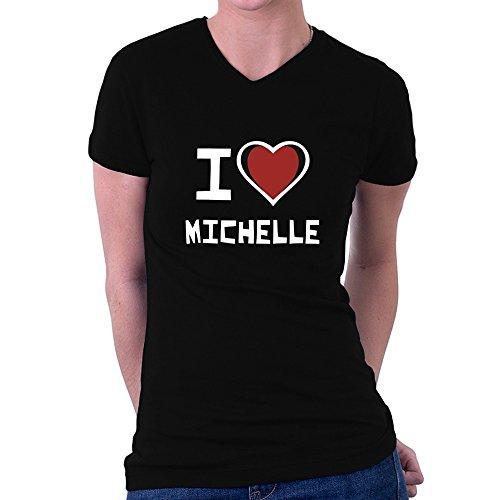 Teeburon I love Michelle Women V-Neck T-Shirt