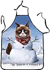 Yyanliii Spaß Karikatur-lustige Tierkatze Druckte Sleeveless Schneemann-Schürze für Geschenk
