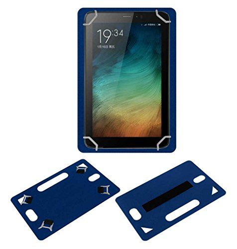 Acm Leather Back Hand Case for Micromax Canvas Tab P701 Tablet Cover Blue