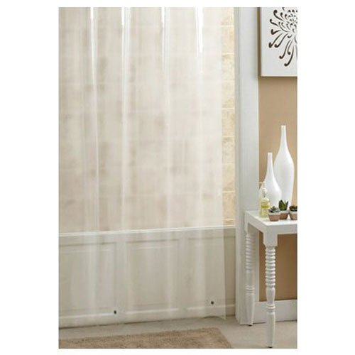 Ex-Cell Home Fashions Duschvorhang, Vinyl, extra lang 70 by 78 Frosty
