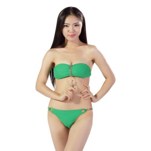 Zicac Sexy Soutien-Gorge de Sport Brassière Stretch Cotton Bikini Yoga Pour Femme Vert