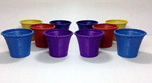 Malhotra 110021 Plastic Shining Pot Set (Multicolored, 10-Pieces)