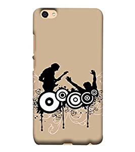 Takkloo people dancing ( trendy picture, music lover, man playing guitar) Printed Designer Back Case Cover for Vivo Y55L