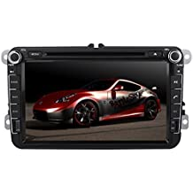 YINUO® 8 Inch 2DIN Android sat nav/car dvd player by Quad Core 16GB 1024*600 with DVD Player, GPS Navigation, AM/FM Radio, Touchscreen, SD/USB, Bluetooth for VW Magotan/Scirocco/Golf/Polo/Passat/Jetta/Tiguan/Touran/Sharan/Sagita/Caddy/Cupra/Seat Toledo/Leon/Alhambra/Altea/Exeo